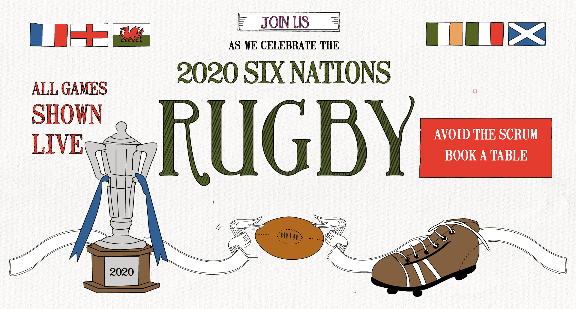 Six Nations at The Lyttelton Arms
